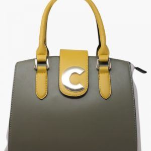 Coloured Top Handle Tote Bag.
